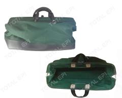 Bolsa de lona verde porta ferramentas