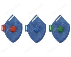 Máscara descartável com válvula CA38513 (PFF1), CA38509 (PFF2) ou CA38505 (PFF3)