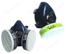 Respirador semifacial CA34591 entrada para 1 ou 2 cartuchos