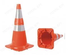 Cone flexível com refletivo 75 cm laranja