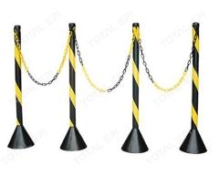 Pedestal zebrado 90cm preto e amarelo